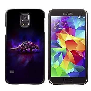 TopCaseStore / la caja del caucho duro de la cubierta de protección de la piel - Cool Animal Art Armadillo Dark - Samsung Galaxy S5 SM-G900