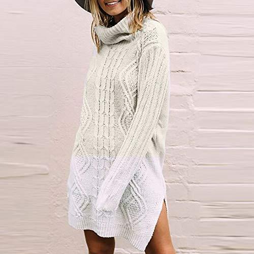 Plus T Ample Manches Tricot pour Femmes WYXlink Chemisier ray Tops la Mode sur Femme Dessus beige Longues Taille Le Shirt aE6ERwOq