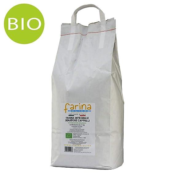 farina integrale biologica di grano duro antico varietà Senatore Cappelli (confezione  da 5 kg) 64d03bf8855c