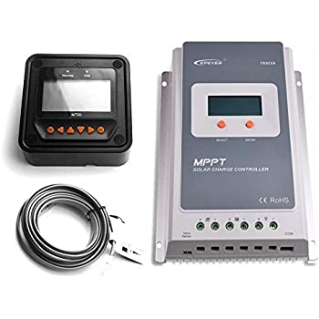EPEVER 40A MPPT Solar Charge Controller Tracer A 4210A + Remote Meter MT-50 Solar Charge With LCD Display for solar Battery Charging