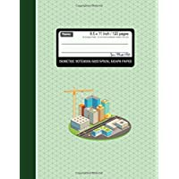 Isometric Notebook Grid Graph Paper (3D Triangular Paper): Isometric Reticle Paper 1/4 Inch Distance Between Parallel Lines Grid Lined for Engineer techinal Sketches and drawing. 8.5 x 11 Inches, 120 Pages