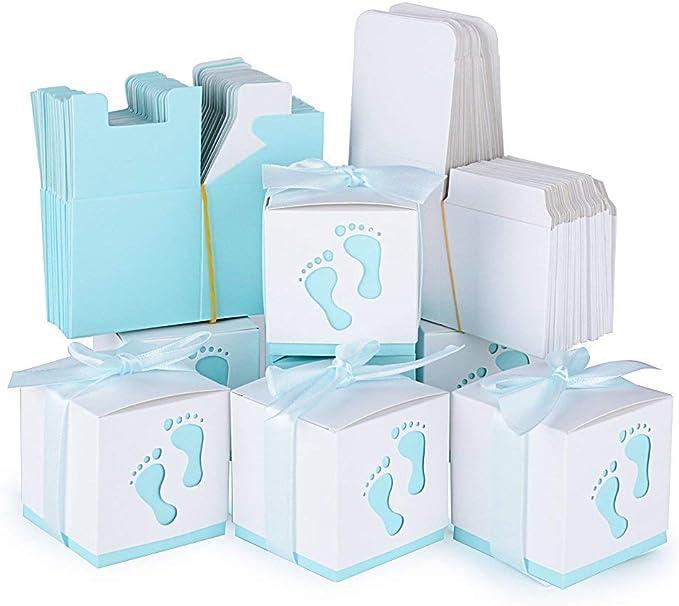 lazeny 50 x invitados regalo caja de regalo bebé pies dulces caja ...