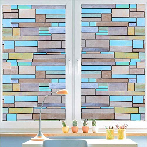 Bloss Stained Glass Window Film Privacy Decorative Brick