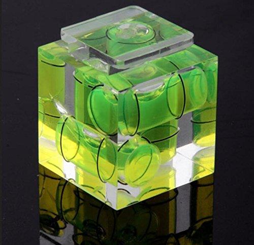 Cadeau de mode spécial Perle horizontale 3D pour appareil photo, adaptateur de chaussure chaude à trois niveaux à bulle pour appareils photo Canon Nikon (vert) Weekendy