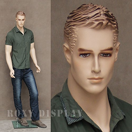 ((MZ-WEN2) ROXYDISPLAYTM Realistic Male Mannequin with Molded Hair.)