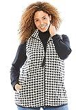 Women's Plus Size Vest in Soft, Cozy Anti-Pilling Fleece Ivory Houndstooth,L