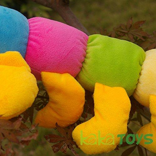 Kaka Toys Cute & Lovely Bedtime Plush Animal /Huge Plush Toy Soft Doll,the Best Gift for Kids/children/girlfriend, Soft Stuffed Plush Toy- Colorful Caterpillar,17.8 Inch / 45 Cm