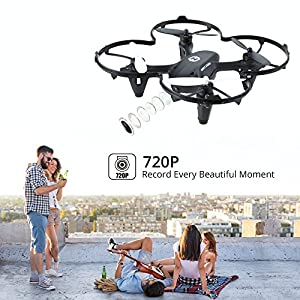 Holy Stone HS170C Mini RC Drone for Kids Adults and Beginners with HD 720P Camera and High Speed Remote Control Quadcopter with One Key Return Headless Mode 3D Flips 6 Axis Gyro Helicopter, Predator 2 from Holy Stone