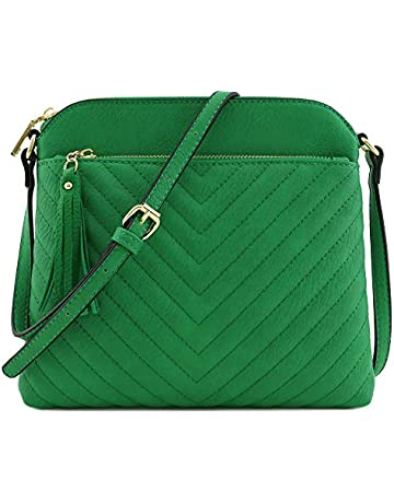 cd3a15bf Chevron Quilted Medium Crossbody Bag with Tassel Accent