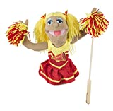 Melissa & Doug Cheerleader Puppet With Detachable Wooden Rod for Animated Gestures