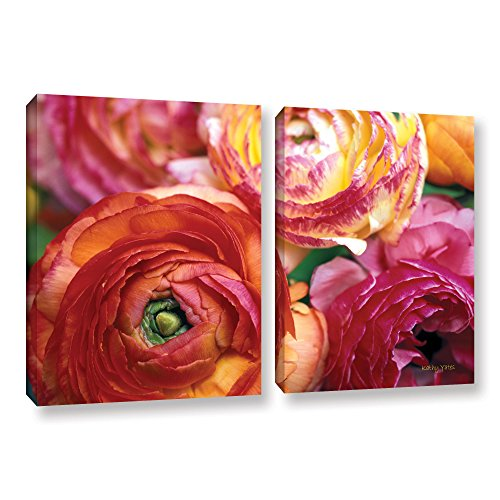 ArtWall Kathy Yates 'Ranunculus Close Up' - Red wall art