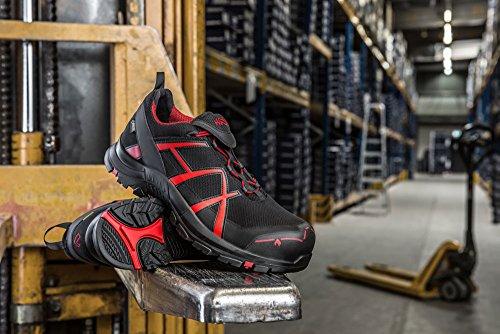 design Black Low di Sporty Haix Safety 44 tecnologia Black innovativa Eagle Red combinato 40 Modern con sicurezza wxUqgzA4U