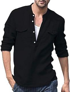 ┃BYEEEt┃ Camicia da Uomo - Manica Lunga Slim Fit T-Shirt Formale per Camicia Uomo - Uomo Camicie Casual Classiche Manica Lunga Giacca Men Shirts - Molti Colori tra Cui Scegliere
