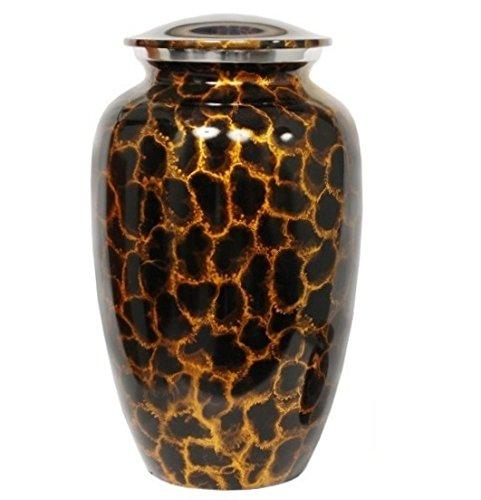 Memorials4u Golden Aura Adult Metal Cremation Urn, 4.0 Pound