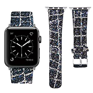 Amazon.com: MIFFO Compatible with Apple Watch Band 38mm