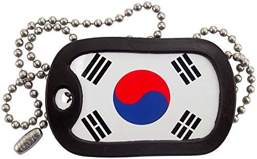Military Dog Tags - South Korea Flag Dog Tag Necklace - Tag-Z