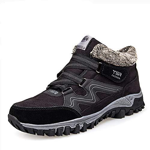 Sports Aged sho Models Men male casual Plus Women Outdoor Black Shoes And Winter Shoes Warm Walking Shoes Cotton Middle Mother Velvet 0Fw81q6d