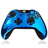 old xbox controller skin - XFUNY® Chrome Controller Housing Shell Front Plate Shell Case Cover Replacement Mod for Xbox One Wireless Controller – Dark Blue