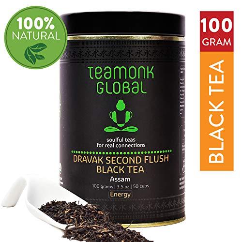 Assam Black Tea , 3.5oz (50 Cups) | Dravak Second Flush Black Tea Supports Energy Boost | 100% Natural Whole Leaf Black Tea | No Additives (Black Gourmet Tea)