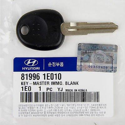 Genuine OEM Hyundai Key Master Immoblizer Blank #81996-1E010 - Hyundai Master Key Blank