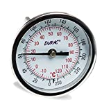 H-B DURAC Bi-Metallic Dial Thermometer; -20 to 120C (0 to 250F), 1/2 in. NPT Threaded Connection, 75mm Dial (B61310-7200)