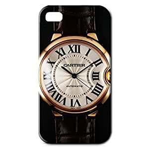 Cartier Automatic Watch Design Phone Case Series 3D Hard Plastic Case Cover Snap on Iphone 4