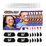 (24 Strips) Eye Black - Milwaukee Brewers MLB Eye Black Anti Glare Strips, Great for Fans & Athletes on Game Day