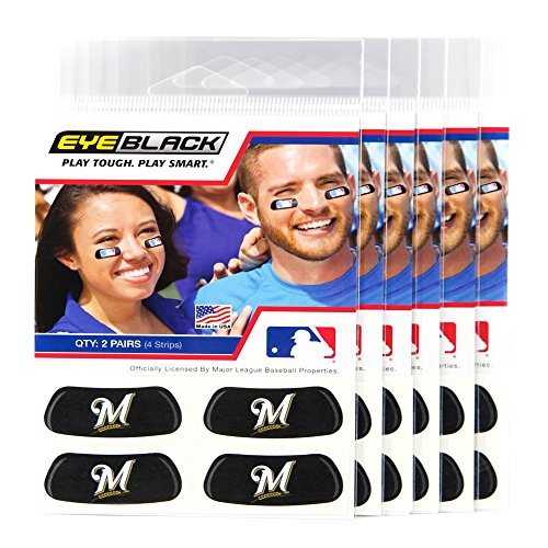 EyeBlack (24 Strips) - Milwaukee Brewers MLB Eye