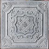 PLASTDECOR Tin Ceiling Tile Faux finishes Peeling Black White PL04 Pack of 10pcs