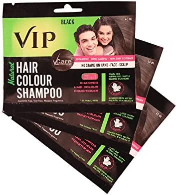 01b2820b4 Buy Vcare VIP 3 in 1 Hair Colour Shampoo (40 ml) Online at Low Prices in  India - Amazon.in