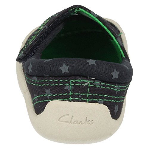 Clarks Choc Cookie Boys Doodle in Navy Canvas Navy Canvas