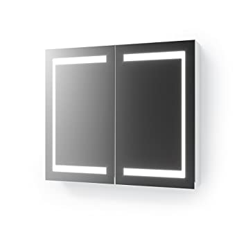 VICCO LED Spiegelschrank Weiß Badschrank Badspiegel ...