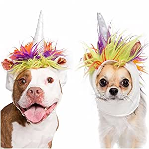Unicorn Dog Costume and Cat Costume - Pet Costumes by Pet Krewe (Small Dog/Cat)