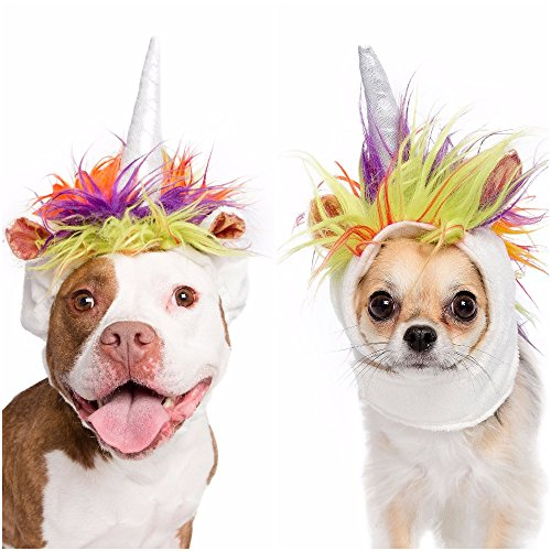 Cat Unicorn Costume (Unicorn Dog Costume and Cat Costume - Pet Costumes by Pet Krewe (Small Dog/Cat))