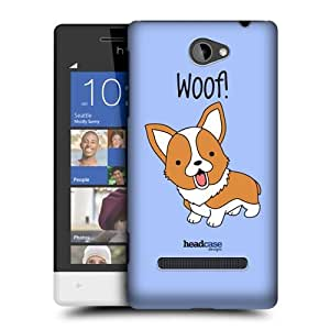 Head Case Designs Corgi Happy Puppies Protective Snap-on Hard Back Case Cover for HTC Windows Phone 8S