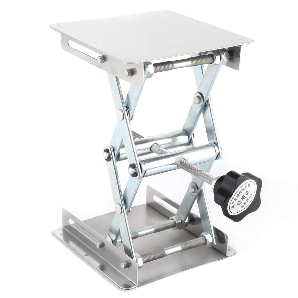 Aluminum Oxide Laboratory Lifting Platform Table Stand Scissor Rack 100100mm Lifting Range 47-143 mm/1.9-5.6inch by Hyuduo (Image #4)