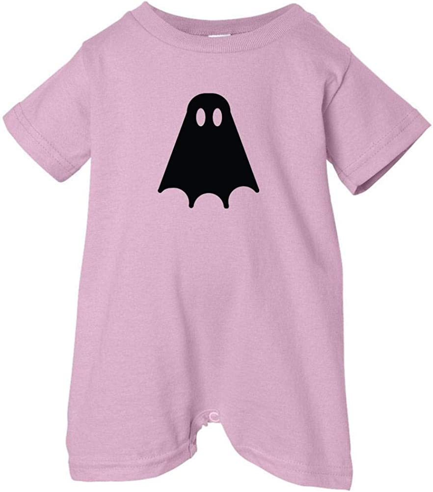 Festive Threads Unisex Baby Black Ghost T-Shirt Romper