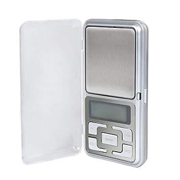 ZHANGYUGE 500g x 0,1g Mini portátil Báscula Digital de precisión balanzas electrónicas para la Cocina Joyería Peso: Amazon.es: Hogar