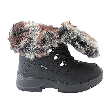 C Texi , Mädchen Damen Schneestiefel, schwarz schwarz