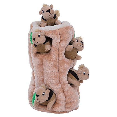 Outward Hound Hide a Squirrel Fun Hide and Seek Interactive Puzzle Plush Dog Toy by, 7 Piece, Ginormous - Hound Toy