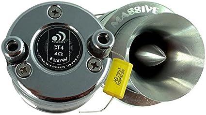 44.4mm V.C Super Bullet Car Audio Tweeter 60w // 300 Watt Peak 8 Ohm Massive Audio CT6 Sold as Each Aluminum Phase Plug Titanium Diaphragm