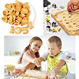 Aivini Biscuit Cutters Set Alphabet and Numbers