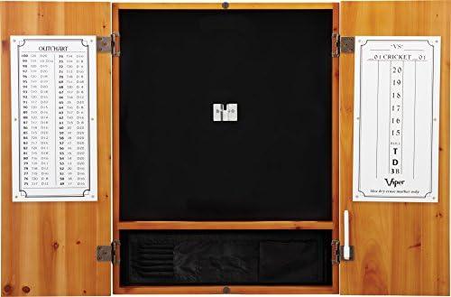 Viper Metropolitan Sisal Bristle Steel Tip Dartboard Cabinet