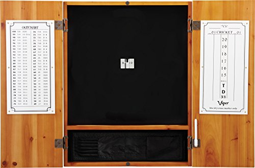 - Viper Metropolitan Solid Wood Sisal/Bristle Steel Tip Dartboard Cabinet: Cabinet Only (No Dartboard), Oak Finish