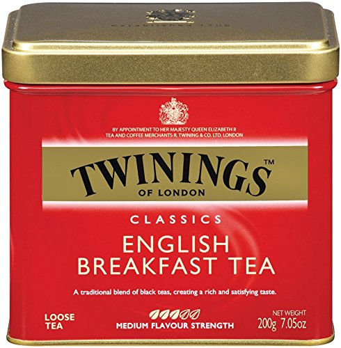 Twinings English Breakfast Tea, Loose Tea, 7.05-Ounce  Tins (Pack of (Loose Tea Box)