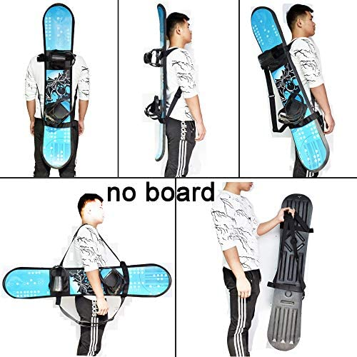 YYST Snowboard Backpack Carry Strap Snowboard Shoulder Strap Backpack Carrier - No Board - Free Your Hands