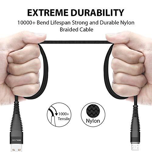 Cable Micro USB, OCUBE [2-Pack, 1.2m+2m] 2.4A Cargador Micro USB Carga Cable de Sincronización Micro USB Trenzado de Nylon para Dispositivos Android,Samsung ...