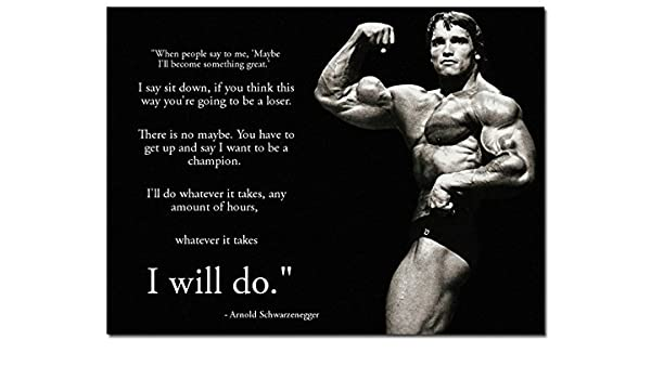 Amazon Com 24x36inch Arnold Schwarzenegger Motivational