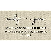 Couple return address stamp, Wedding address stamp - 4A