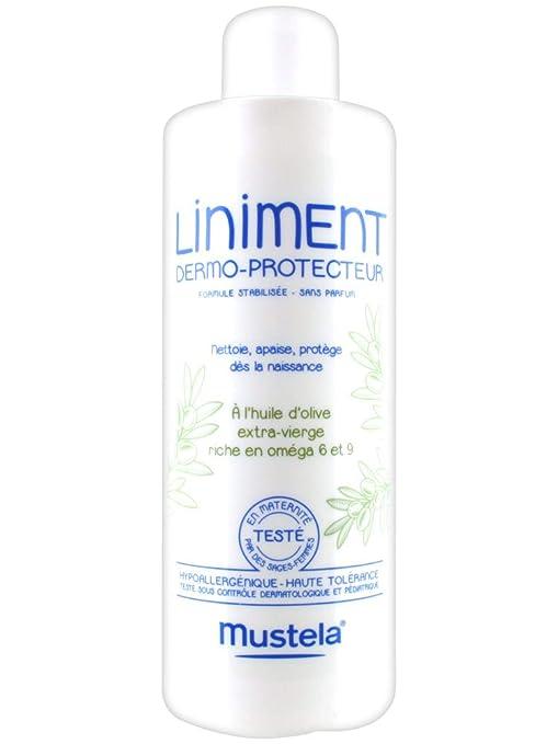 Mustela - Linimento dermoprotector - Limpiador y relajante, al aceite de oliva extra-virgen